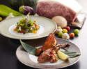 Omar shrimp and Shiretoko beef course
