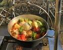 【器材+食材+準備・片付け不要】ファイヤーグリルでつくる『チキンとトマトのごろごろ野菜ポトフ』&炭火BBQ 冬のあったかプラン