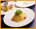 【ランチ・半個室確約・平日限定・選べる2ドリンク付き】季節のスープ・ パスタ・メイン・デザートがついたコース
