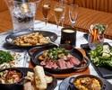 【スタンダードフリードリンクプラン】★ MERCER BRUNCH 肉イタリアン料理6品+フリードリンク2H
