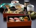 【寿司御膳×1ドリンク付き!】天ぷら・そば・にぎり寿司などの贅沢和食!ホテル高層階で優雅なひとときを