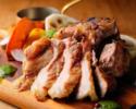 【2名様OK!】乾杯1ドリンク付 総州「三元豚」のグリルと前菜、パスタのライトコース 全4品