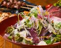 """【""""春""""満足コース)】別途、飲み放題もご追加頂けます。120分¥1,500にて。※鍋有無を必ずお選び下さい。"""