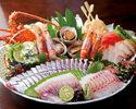 名物皿鉢料理!鰹のたたきと松茸の土瓶蒸しや天然クエなど【土佐皿鉢(さわち)コース】