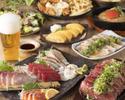 【迷ったらコレ!】お魚もお肉も贅沢に『特選お造り5種盛り合わせと希少部位極厚ステーキ』2時間飲み放題