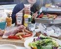 【ランチタイム限定】お肉もBBQデザートも楽しめる♪女子会ランチBBQプラン(アルコール飲み放題付き)¥4,000