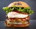 【TAKEOUT】オニオンベーコンチーズエッグバーガー Onion Bacon Cheese Egg burger