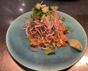 バミーヘーン + アジアンおかず2種-トムヤムスパイスの豚肉そぼろ 汁なし中華あえ麺