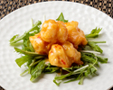 Stir-fried shrimp with mayonnaise sauce