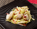 Stir-fried scallops, squid and yellow chive