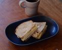 自家製パンのサンドイッチ したみち農園りんご