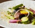 (16) Carpaccio of fresh fish