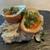 Raw ham potato salad