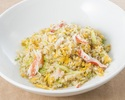 Fried rice with crab and lettuce