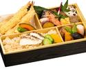 【テイクアウト】熟成魚の漬け焼と海老のおかき揚げ弁当(鯛飯)