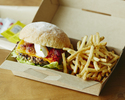 <Takeout>【Grilled Beef Burger (including french fries)】Andale-Gringo🍔🍟