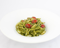 PESTO with BABY SHRIMP & DRIED TOMATOES