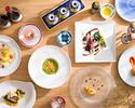 ランチコースB¥5000(税・サ別)7皿+お茶菓子&カフェセット