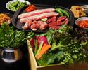 ◎◎【ディナータイム専用】たっぷり野菜と3種のサムギョプサル&120分飲み放題!神南軒ルーフトップBBQプラン♪