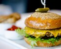 CHAR GRILLED TR BBQ BURGER - 200G PREMIUM BEEF PATTY CHEDDAR LETTUCE TOMATO BALSAMIC ONION