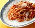 【テイクアウト】イェージ産グアンチャーレとトマトソースのブカティーニ