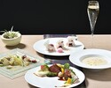 【プリフィクスフォアグラコース+スパークリング2時間飲み放題付】魅惑のフォアグラ料理、メイン・デザートが選べる全6品 6800円