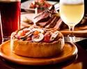 【秋のテラス席/2時間飲み放題】自社醸造クラフトビール&スパークリングフリーフロー 特製シャルキトリーにズワイガニ・トリュフ前菜、自社輸入ソーセージと本格シカゴピザ クラフトビアガーデンコース