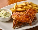 BABY BACK RIBS AND GRILLED CHICKEN