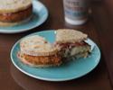 自家製パンのサンドイッチ オーガニック福永農園やさいと阿波美豚コロッケ