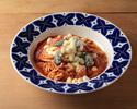 【PASTA】バジルとモッツァレラチーズのトマトソース 生リングイネ