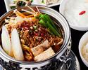 坦々ピリ辛鍋定食(ご飯お代わり自由)