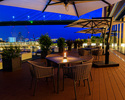 """[First-come-first-served shaded seat """"parasol"""" commitment] [Summer-only """"Riverside beer terrace""""] Terrace seats/adults (13 years old and older)"""
