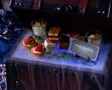 《記念日》ビアガーデンアニバーサリープラン飲み放題付き 神秘のジュエリーボックスプレートが楽しめる記念日ビアガーデンコース