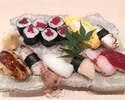 【テイクアウト】おまかせ握り寿司(8貫と巻)