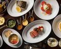 【Dinner / THE OAK DOOR SET】Enjoy a  4-course dinner with an entrée choice of tender steak or pork chop.