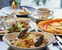 【土日祝:イタリアンデリプレートと選べるメイン】+食後のコーヒー、ハーブティー飲み放題