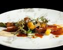 テーブル席/「四季の薫」京野菜・和牛イチボ肉など全7品(ドリンク1杯付き)