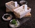 【日本料理 梢】生蕎麦 2種x2名分(蕎麦つゆ、薬味4種付)