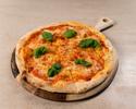 Pizza Margherita, tomato sauce, mozzarella, basil