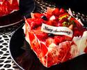 【レストラン提供用】アニバーサリーケーキ/Fraise~フレイズ~(3号)