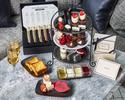 【Black&Whiteアフタヌーンティー】スイーツ等12種!紅茶6種おかわり自由+バースデーボックス