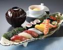 乾杯スパークリングワイン付!新鮮なネタの持ち味をご堪能いただける江戸前寿司「勘六にぎり」