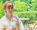 【夏限定 浴衣の着付け&ヘアメイク付】picnic styleのデザートプレート+選べるノンアルコールカクテル1杯