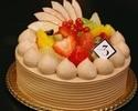フルーツデコレーションケーキ(チョコクリーム)18cm