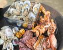 牡蠣&牛ステーキ&グリルチキンBBQプラン(料理のみ) 4時間制(小学生)