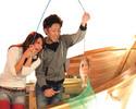 鯛の塩釜付き釣りコミコース3300円(お料理5品+釣りチケット3枚)【ランチ・ディナー】