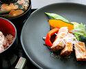 9月ランチ 豚肩ロース肉の低温調理 季節の野菜添え