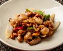 Stir-fried Daisen chicken and cashew nuts