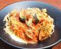 【Takeout】ベーコンと茄子入りアマトリチャーナスパゲッティ