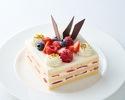 ストロベリーショートケーキ 14cm角型 5,400円